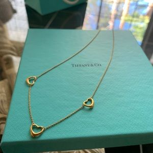 18k gold Tiffany & co. Elsa peretti necklace and